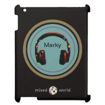 personalized headphone dj iPad cover