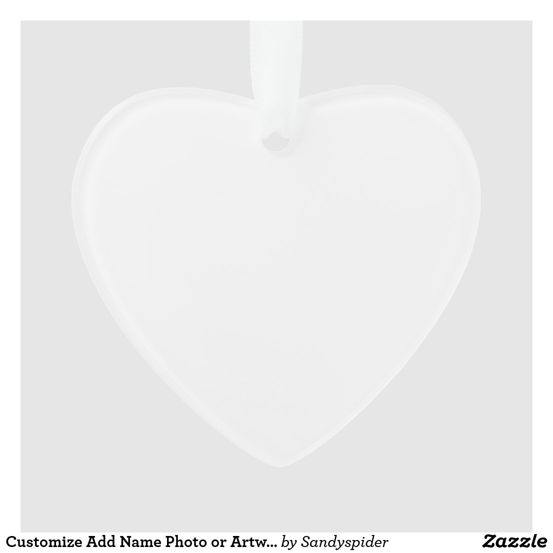 Personalized Heart Acrylic Ornament Add Your Own