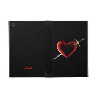 Personalized Heart And Dagger iPad Mini Case