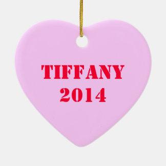 Personalized Heart Breaker Ceramic Ornament