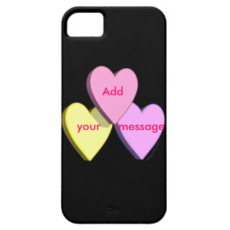 Personalized Heart Candy Add Your Message iphone 5 iPhone SE/5/5s Case