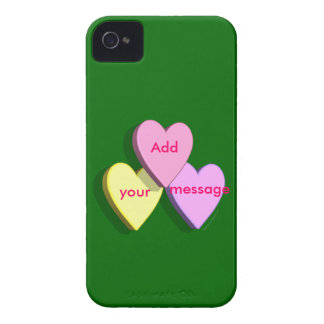 Personalized Heart Candy Custom Message Skin Case-Mate iPhone 4 Case