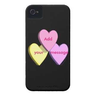 Personalized Heart Candy Custom Message Skin iPhone 4 Case-Mate Case