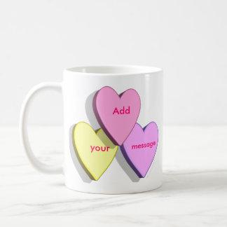 Personalized Heart Candy MugTemplate Coffee Mug