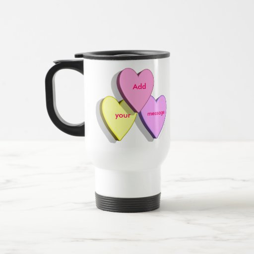Personalized Heart Candy Travel MugTemplate 15 Oz Stainless Steel Travel Mug