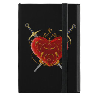 Personalized Heart & Daggers iPad Mini Case