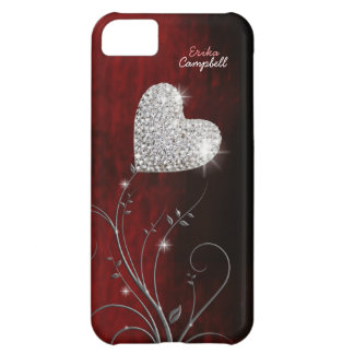 personalized heart girly love iPhone 5C case