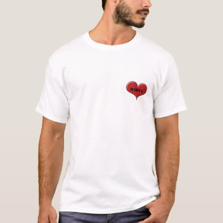 Personalized Heart: Heart over Heart by Sonja A.S T-Shirt