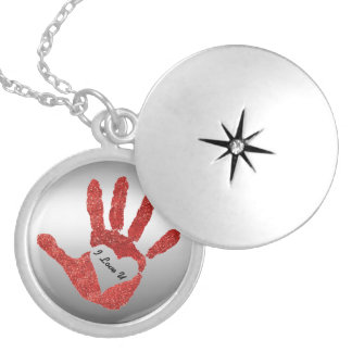 Personalized Heart In My Hand Hand Print Locket