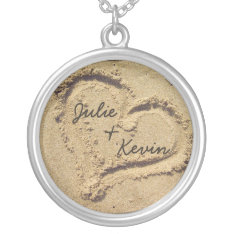Personalized Heart In The Sand Necklace at Zazzle