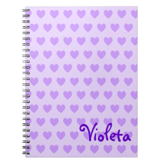 Personalized Heart Pattern Notebook