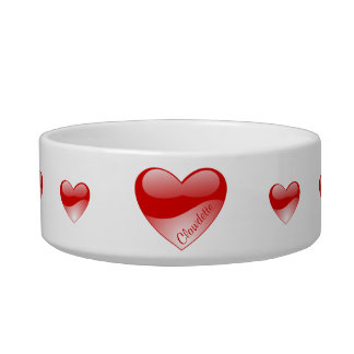 Personalized Heart Pet Bowl