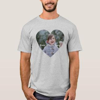 Personalized Heart-Shaped Photo Men's T-Shirt