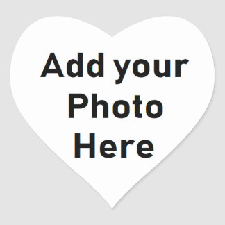 Personalized Heart Shaped Photo Small Stickers