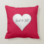Personalized  Heart Shaped Pillow