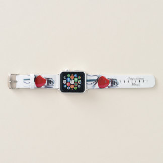 Personalized Heart & Stethoscope Apple Watch Band