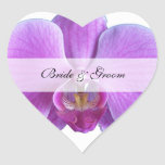Personalized Heart Stickers Wedding  --  Orchid