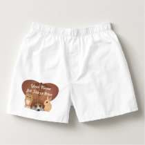 Personalized Heart Veterinary Animal Boxers