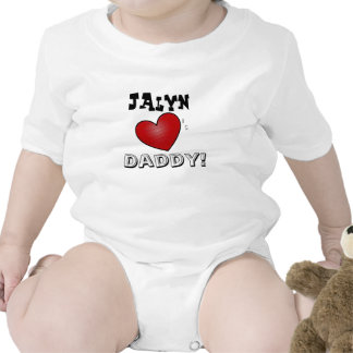 Personalized ' Hearts Daddy Baby Baby Bodysuits
