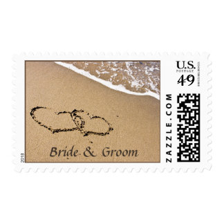 Personalized Hearts in Sand stamps