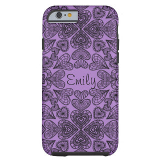 Personalized Hearts iPhone 6 Tough Case