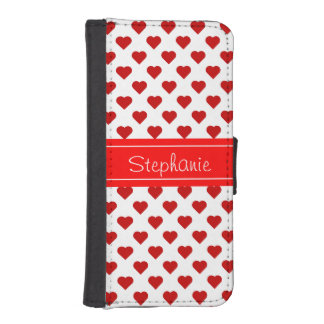 Personalized Hearts iPhone SE/5/5s Wallet
