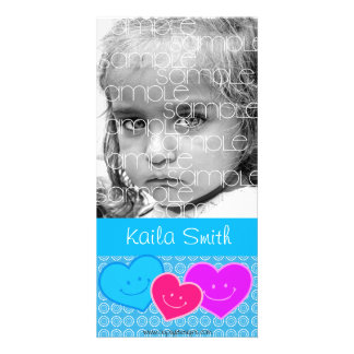 PERSONALIZED HEARTS PHOTO CARD