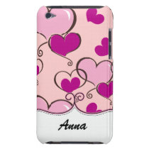 personalized hearts pink trendy iPod Case-Mate case