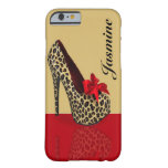 Personalized Heel Design Beige Barely There iPhone 6 Case