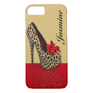 Personalized Heel Design Beige iPhone 7 Case
