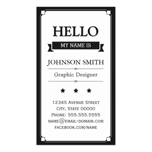 Personalized Hello My Name Is