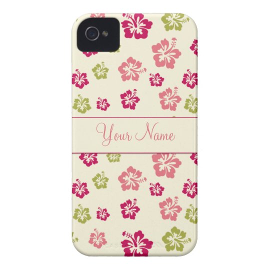 Personalized Hibiscus Flower Pattern 4/4G Case