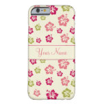 Personalized Hibiscus Flower Pattern Case iPhone 6 Case