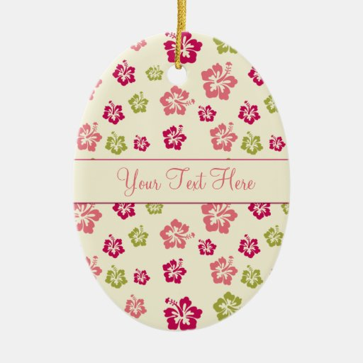 Personalized Hibiscus Flower Pattern Ornament