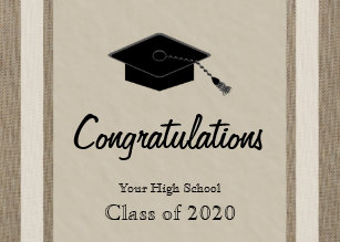 personalized high school graduation card
