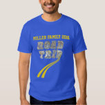 Personalized Highway Map Yellow Lines Road Trip T-shirt
