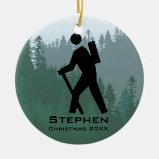Personalized Hiking Ornament