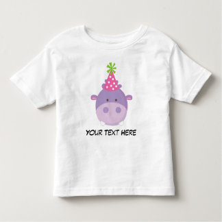 Personalized Hippo Birthday T Shirt For Girls