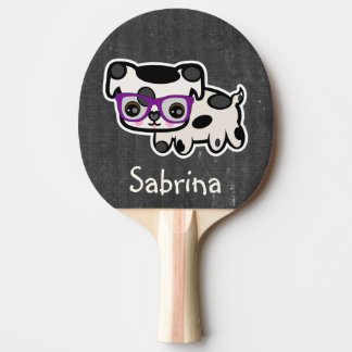 Personalized Hipster Dog Ping Pong Paddle