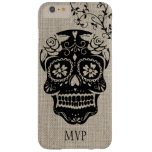 Personalized Hipster Sugar Skull Barely There iPhone 6 Plus Case