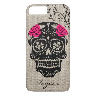 Personalized Hipster Sugar Skull iPhone 7 Plus Case