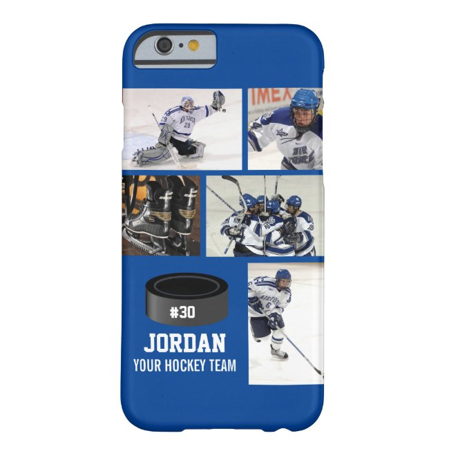 Personalized Hockey 5 Photo Collage Name Team # Case-Mate iPhone Case