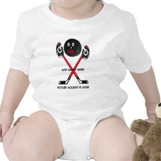 Personalized Hockey Baby Cartoon Tee Shirts