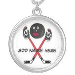 Personalized Hockey Cartoon Necklace