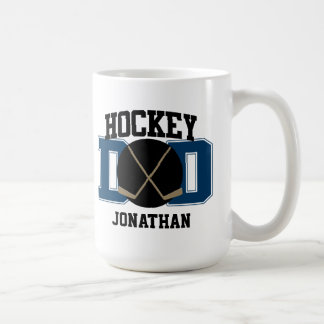Personalized Hockey Dad (BLUE) Mugs