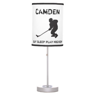 Personalized Hockey Lamp