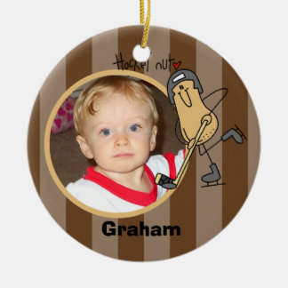 Personalized Hockey Nut Photo Ornament