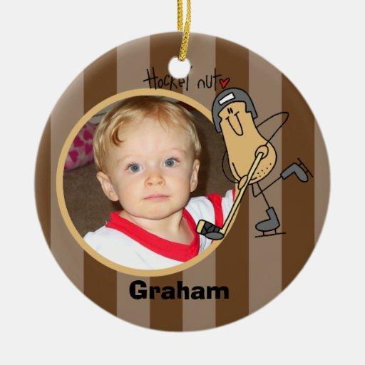 Personalized Hockey Nut Photo Ornament
