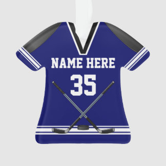 Personalized Hockey Ornaments, Jersey Shaped Ornament