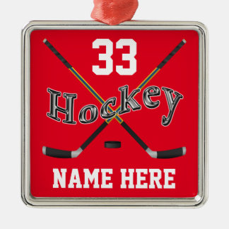 PERSONALIZED Hockey Ornaments Your Name and Number